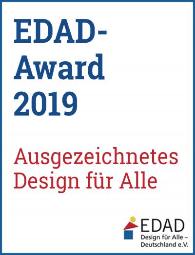 Das Bild zeigt den die EDAD - Award 2019 Signete