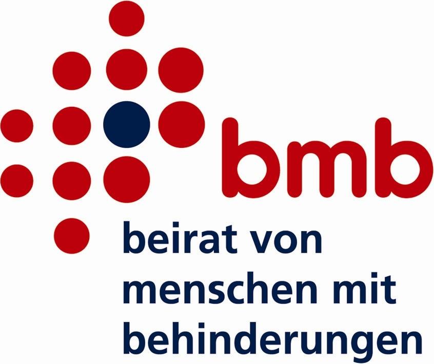Logo: bmb: Beirat von Menschen mit Behinderungen
