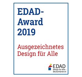 Logo: EDAD - Award 2019 Ausgezeichnetes Design für Alle